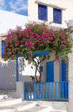 Traditional Greek balcony on Milos island Stock Photos