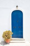 Traditional greek blue doors Royalty Free Stock Photography