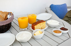 Traditional Greek breakfast Stock Image