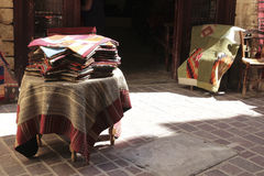 Traditional Greek carpets shop Royalty Free Stock Photography