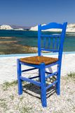 Traditional Greek chair Stock Image