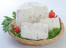 Traditional greek cheese kalathaki Limnou Royalty Free Stock Images