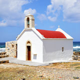 Traditional greek church. In Chersonissos, Crete island, Greece Royalty Free Stock Photography