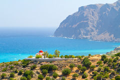 Traditional Greek church on the coast. Of Crete Royalty Free Stock Photography