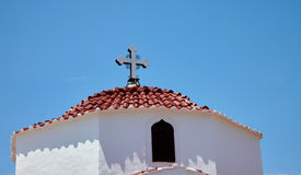 Traditional greek church dome, Rhodos island, Greece Royalty Free Stock Image