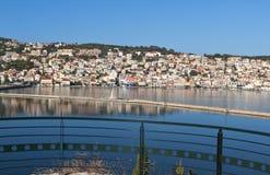 Traditional greek city of Argostoli at Kefalonia Royalty Free Stock Images