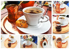 Traditional greek coffee Stock Photos
