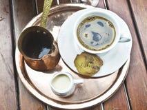 Traditional greek coffee stock photo