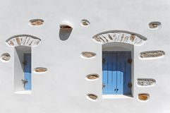 Traditional Greek cycladic architecture royalty free stock photo
