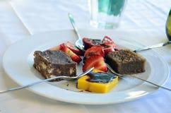 Traditional greek desserts. Greek cuisineis a Mediterranean cuisine Royalty Free Stock Photos