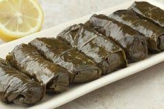 Traditional greek dolmades Stock Photo