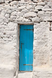 Traditional Greek door on Mykonos island Stock Photography