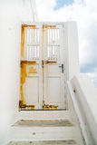 Traditional greek door on Mykonos island Royalty Free Stock Photos