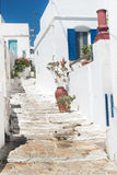 Traditional Greek door on Mykonos island Stock Photos