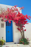 Traditional greek door on Sifnos island Royalty Free Stock Photo