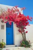 Traditional greek door on Sifnos island Royalty Free Stock Photo