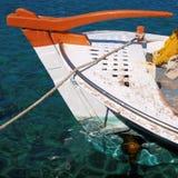 Traditional Greek fishing boat Stock Photo