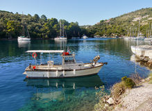 Traditional Greek Fishing Boat Royalty Free Stock Photo