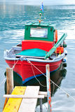 Traditional greek fishing boat, Thassos island, Greece Royalty Free Stock Image