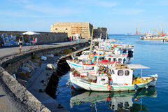 The traditional Greek fishing boats Royalty Free Stock Images
