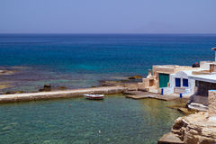 Traditional greek fishing village on Milos island Stock Photography