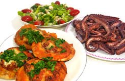 Traditional greek food - Clean Monday food Stock Image