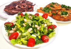 Traditional greek food - Clean Monday food Royalty Free Stock Images
