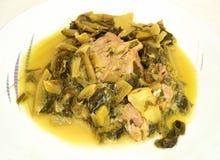 Traditional greek food ''frikase'' Stock Photo