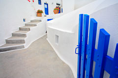 Traditional Greek house. On Santorini island Stock Image