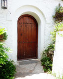 Traditional greek house door Royalty Free Stock Images