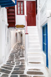 Traditional greek house on Mykonos island Stock Photos