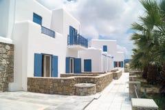 Traditional greek house on Mykonos island Royalty Free Stock Photos