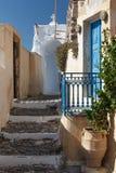 Traditional greek house in Pyrgos village, Santorini island Stock Photo