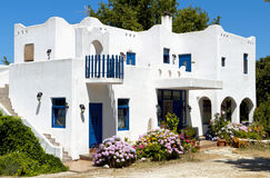 Traditional greek house at Samothraki island Stock Photos