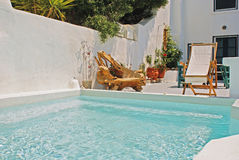 Traditional greek house on Santorini island Royalty Free Stock Photos