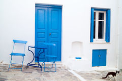 Traditional greek house on Sifnos island Royalty Free Stock Images