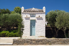 Traditional greek house on Sifnos island Stock Photos