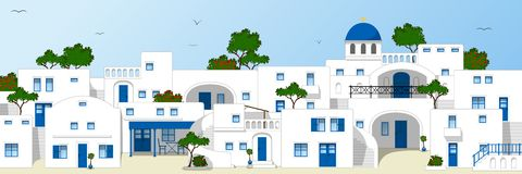 Traditional greek houses Royalty Free Stock Photo