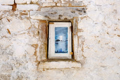 Traditional Greek housing on the island of Corfu. Near Paleokastritsa. Corfu Island Kerkyra Stock Photo