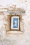 Traditional Greek housing on the island of Corfu. Near Paleokastritsa. Corfu Island Kerkyra Stock Images