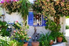 Traditional Greek housing on the island of Corfu. Near Paleokastritsa. Corfu Island Kerkyra Royalty Free Stock Image