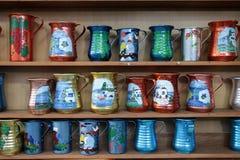 Traditional Greek jugs Stock Image
