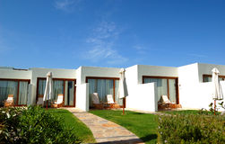 The traditional Greek luxury villas Stock Photography
