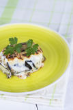 Traditional Greek moussaka royalty free stock photo