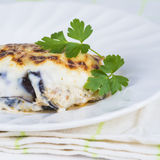 Traditional Greek moussaka Stock Photography