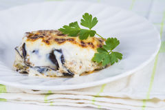Traditional Greek moussaka royalty free stock images