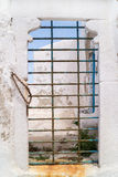 Traditional greek old door on Mykonos island Royalty Free Stock Image