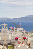 Traditional greek orthodox cemetary. Stock Photos