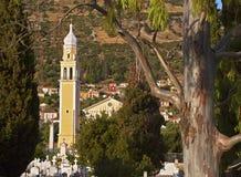 Traditional Greek orthodox church. Found at Faraklata village of Kefalonia island Royalty Free Stock Photos