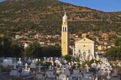Traditional Greek orthodox church. Found at Faraklata village of Kefalonia island Royalty Free Stock Photo